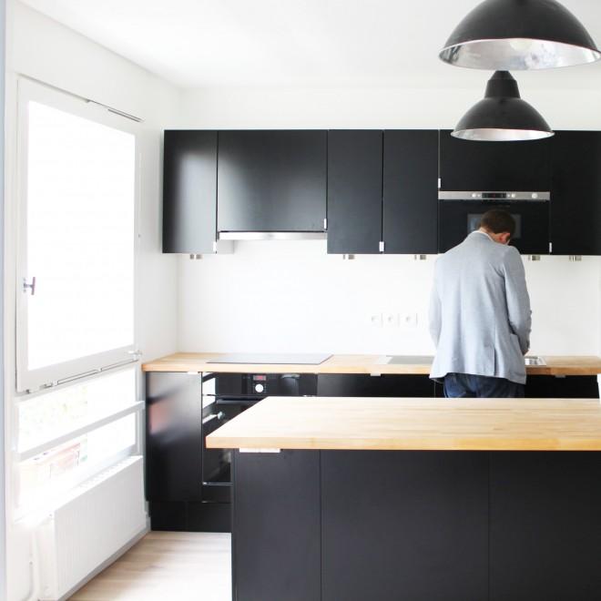 Rénovation Cuisine Ikea Paris 01 : Détail porte de placard